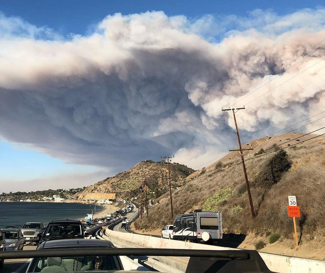 Woolsey Fire evacuation from Malibu on November 9 2018